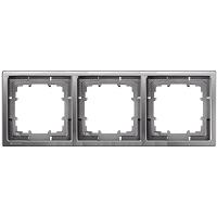 Siemens Delta Style Rahmen 3-fach platinmetallic 5TG1323-1