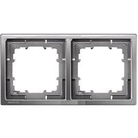Siemens Delta Style Rahmen 2-fach platinmetallic 5TG1322-1
