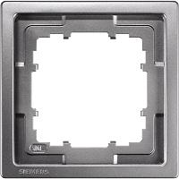 Siemens Delta Style Rahmen 1-fach platinmetallic 5TG1321-1