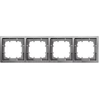 Siemens Delta Style Rahmen 4-fach platinmetallic 5TG1324-1