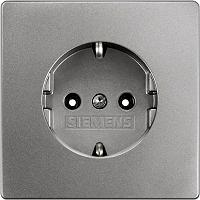 Siemens Delta Style Schuko-Steckdose platinmetallic 5UB1853-1