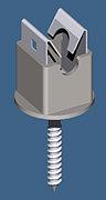Niro-Clip Halter V2A/Ku Grau jp-111029