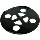 Dehn 102050 Unterlegplatte Kunststoff D 370mm schwarz