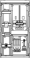 Mosdorfer Zählerverteiler Freiluft,1ZP,VZ:KB,NZ:1D02,IP44,RAL703