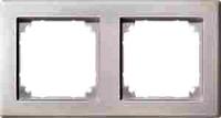 MERTEN 484219 M-SMART-RAHMEN, 2FACH POLARWEISS, MATT