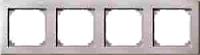MERTEN 484419 M-SMART-RAHMEN, 4FACH POLARWEISS, MATT
