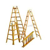 SCHURRER H1040 Holz-Doppelleiter 04-Sprossig
