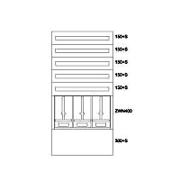 Zählerverteiler UP,3ZP,5NR,EVN,B810xH1535xT240mm 138043