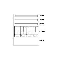 Zählerverteiler UP,4ZP,3NR,EVN,B1010xH1235xT240mm BP-U-3S-NN-100