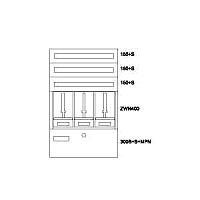 Zählerverteiler AP,3ZP,3NR,BEWAG,B800xH1260x250mm BP-O-BN-800/12