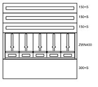 Unterputz-Zaehlerverteiler 5 Zähler 3 Nachzählerreihen Niederöst