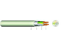Mantelleitung geschirmt NYM(ST)-J 3X1,5/1,5 GR  100 m