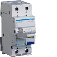 FI/LS-Schalter AC 13A/1+N/B 30mA G 6kA HAGER ADJ913D