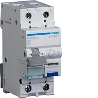 FI/LS-Schalter AC 13A/1+N/C 30mA G 6kA HAGER ADJ963D