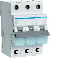 LS-Schalter 3P 6kA C-32A QC 3MHAGER MCS332