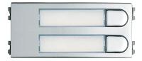 Skyline Tastenmodul 2 Einfachtaster, VDS, silber/chrom,Gr. VFER