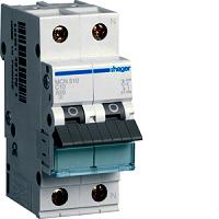 LS-Schalter 10A/1pol+N/C 6kAHAGER MCN510