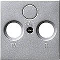 GIRA 086926 Abdeckung für TV/RF/SAT-Anschluss 2- und 3-Loch-Ausf