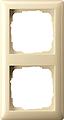 GIRA 021201 Abdeckrahmen 2-fach cremeweiß glänzend