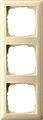 GIRA 021301 Abdeckrahmen 3-fach cremeweiß glänzend