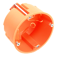 Hohlwand-Schalterabzweigdose orange, chlorfrei DIETZEL HWD 65  25 Stück