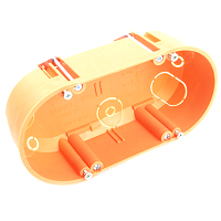 Hohlwand-Zweifachschalterdose, orange, halogenfreiDIETZEL HWDZ