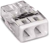 2-Leiter-Klemme, transparent/weißWAGO 2273-202  100stk.