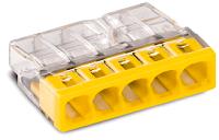 5-Leiter-Klemme, transparent/gelb WAGO 2273-205  100stk.