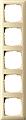 GIRA 021501 Abdeckrahmen 5-fach cremeweiß glänzend