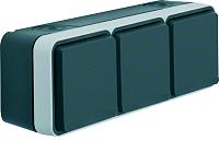 W.1 SSD 3fach waagrecht grau/lichtgrau matt BERKER 47733515