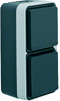 W.1 SSD 2fach senkrecht grau/lichtgrau mattBERKER 47703525