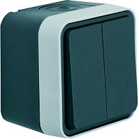 W.1 Serienschalter grau/lichtgrau matt BERKER 30753505