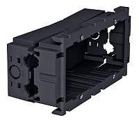 Geräteeinbaudose 2-fach 160x76x51 ,PA eisengrau