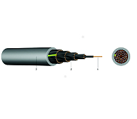 PVC-Steuerleitung YSLY-JB 5X1,5 GR ungeschirmt KABEL-LEITUNGEN 1m Schnittlänge