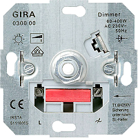 GIRA 030000 Glühlampen-Dimmer-Einsätze - Drehknopf