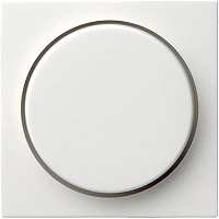 GIRA 065003 Abdeckung mit Knopf für Dimmer - reinweiß glänzend